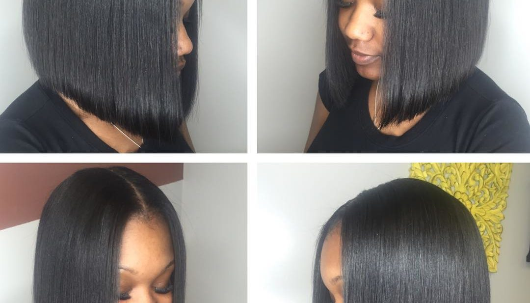 Sleek Black Bob Medium Length Hairstyle