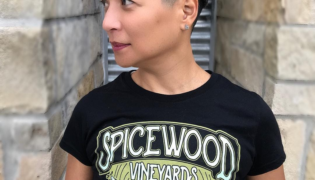 Black Bowl Cut with Undone Textured Layers and Fade Short Hairstyle