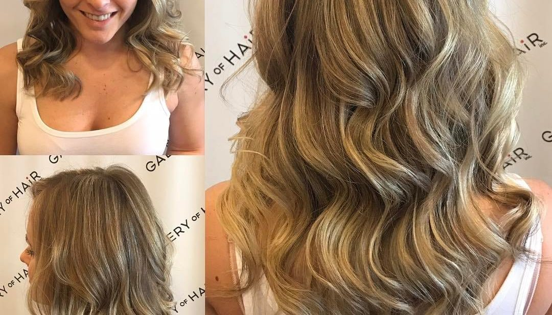 Blonde Layered Cut with Highlights and Ash Lowlights Long Hairstyle
