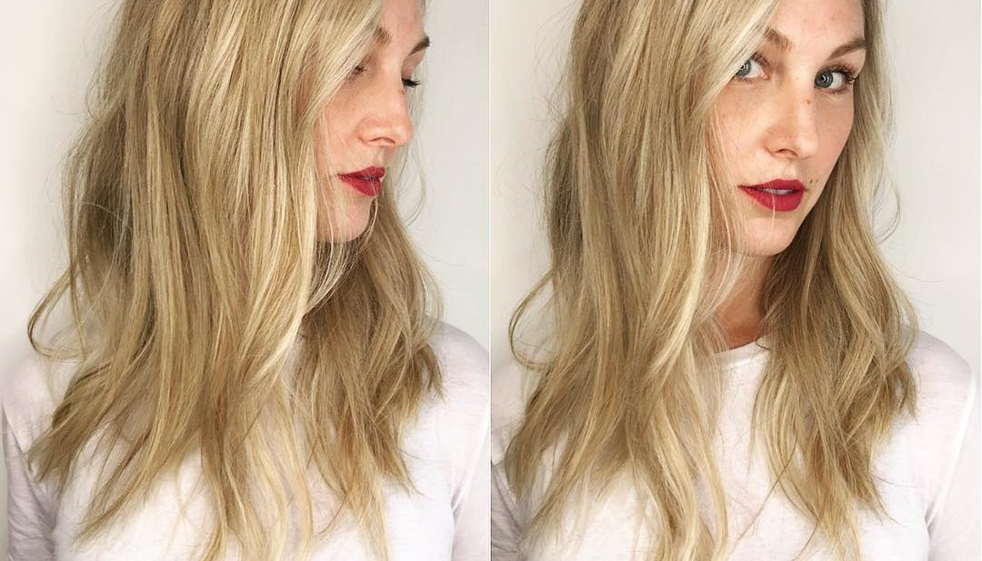 Blonde Undone Long Layered Cut with Soft Waves and Babylights Long Hairstyle