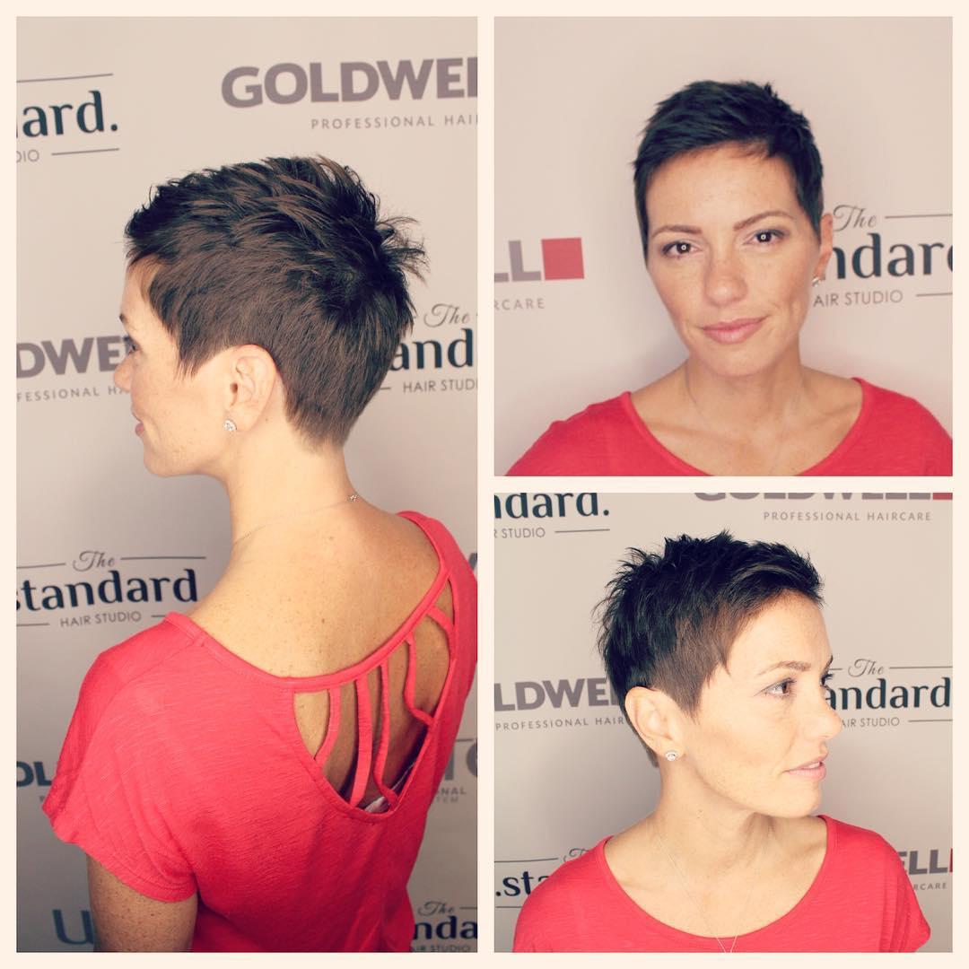 Brunette Textured Pixie Short Hairstyle
