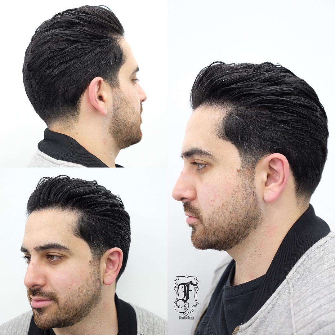 Brushed Back Regular Cut with Soft Taper and Beard