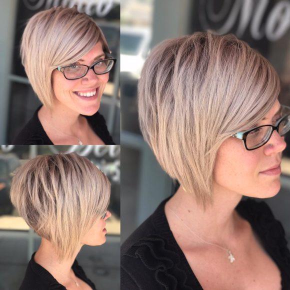 Choppy Blonde A-Line Bob Short Hairstyles