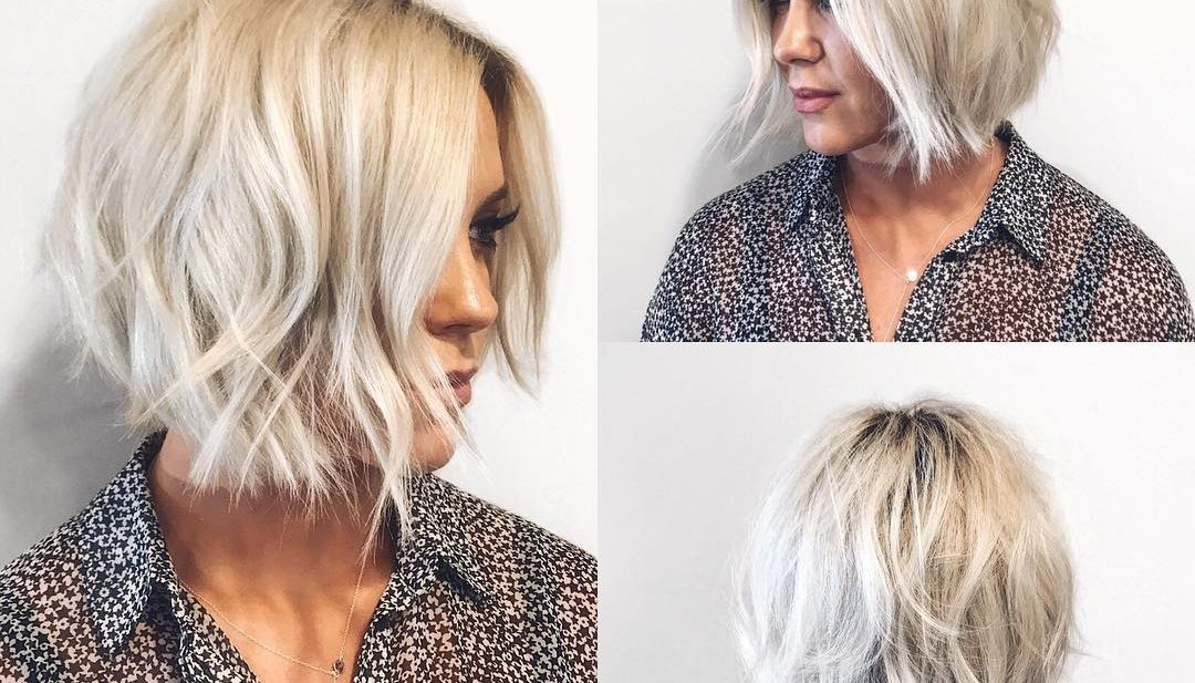 Choppy Platinum Bob With Undone Texture And Shadow Roots The Latest Hairstyles For Men And Women 2020 Hairstyleology