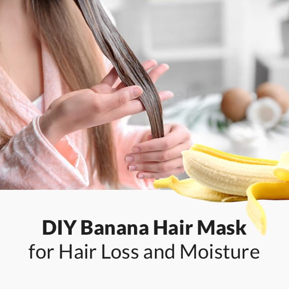DIY BANANA HAIR MASK for HAIR LOSS and MOISTURE