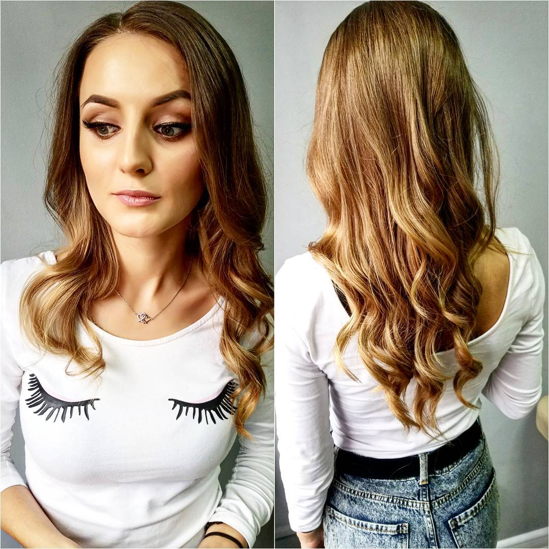 Dark Blonde V-Cut Layers with Wavy Textured Ends and Subtle Highlights Long Hairstyle