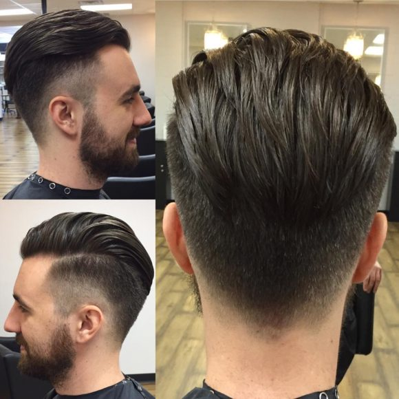 Disconnected Undercut with Taper Fade and Backcombed Medium Top Lengths