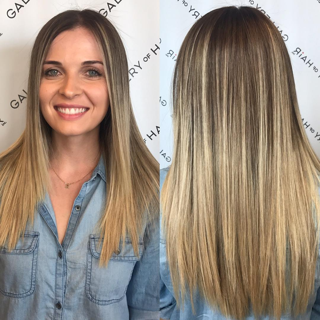 Long Cut with Short Layers and Blonde Ombre Long Hairstyle