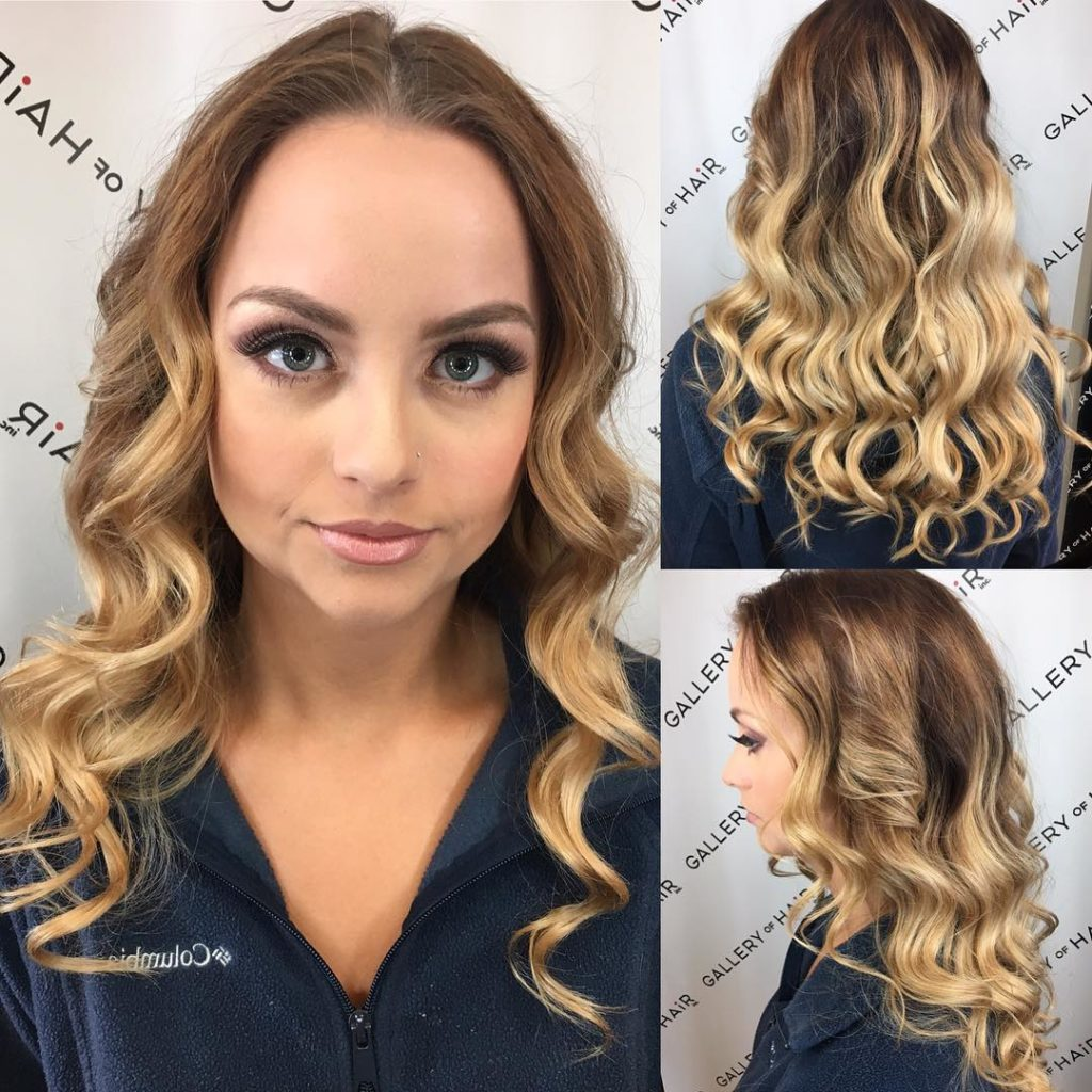 Long Layered Cut with Added Waves and Blonde Ombre Long Hairstyle