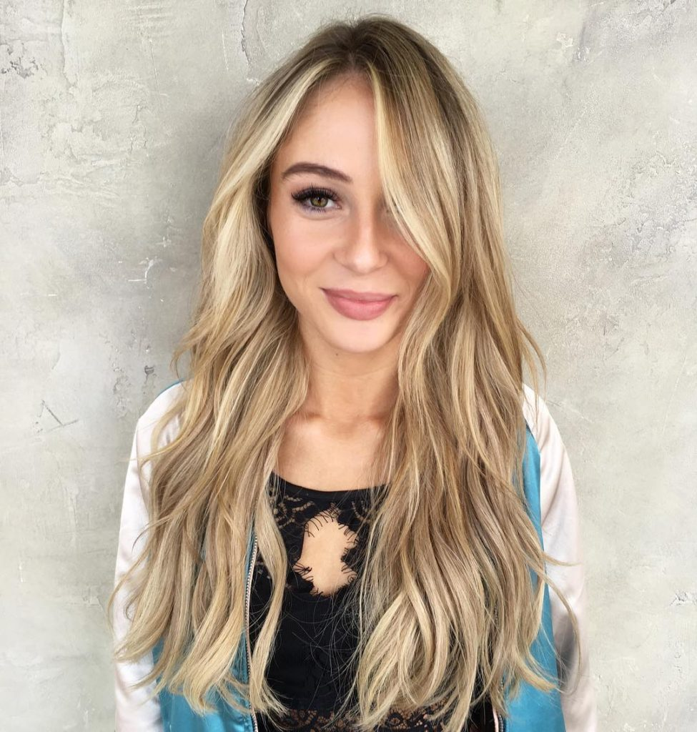 Long Tousled Layers with Soft Waves and Blonde Balayage Long Hairstyle
