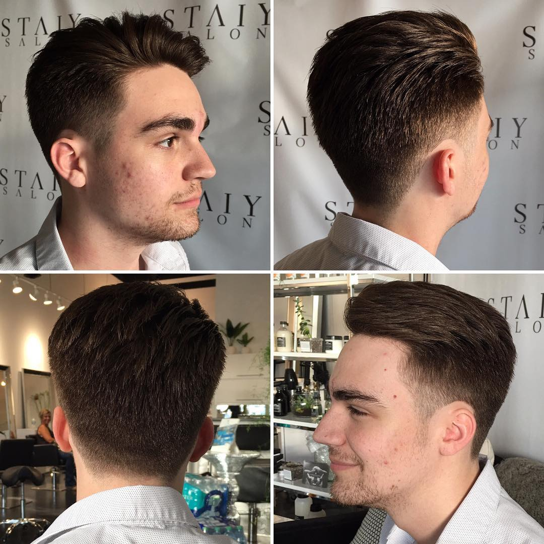Mens Short Textured Quiff with Tapered Sides