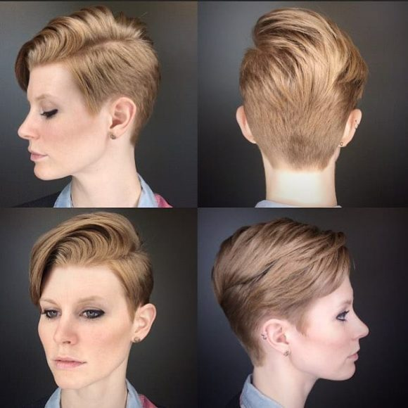 Modern Voluminous Combover Pixie Short Hairstyle