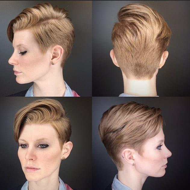 Modern Voluminous Combover Pixie Short Hairstyle