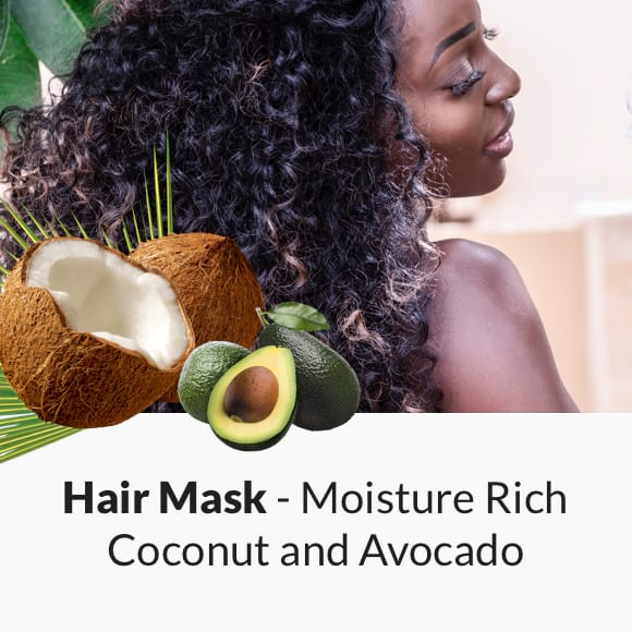 Moisture Rich Coconut and Avocado Hair Mask