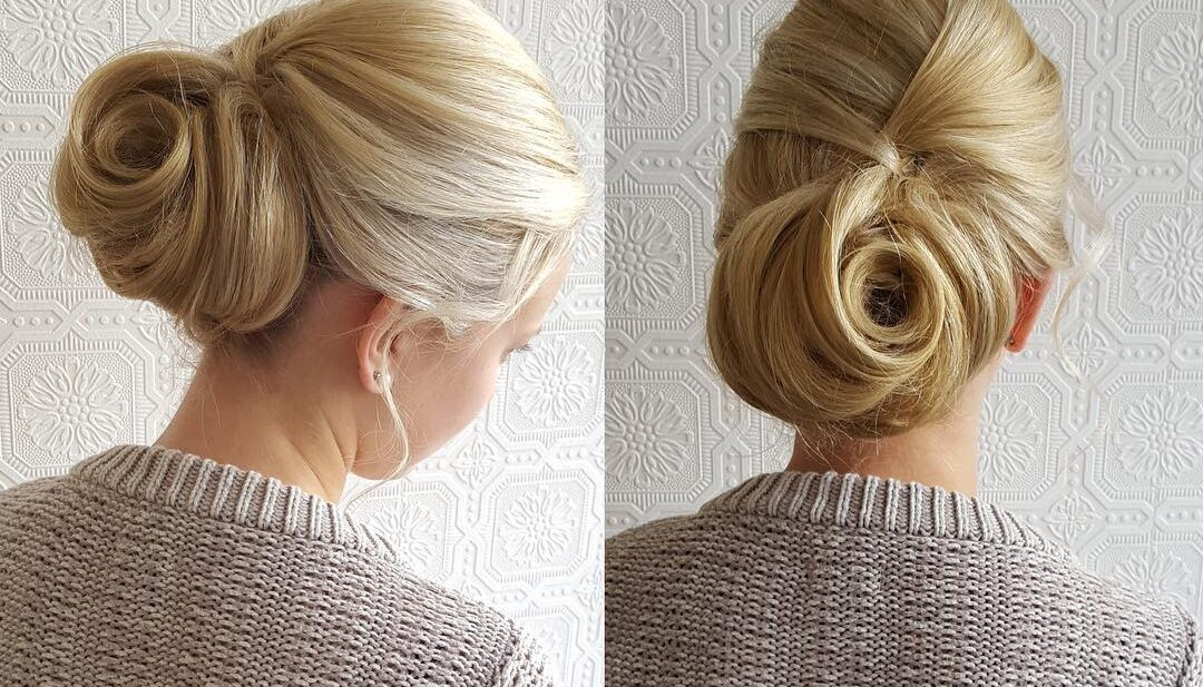 Romantic Chignon Updo Hairstyle