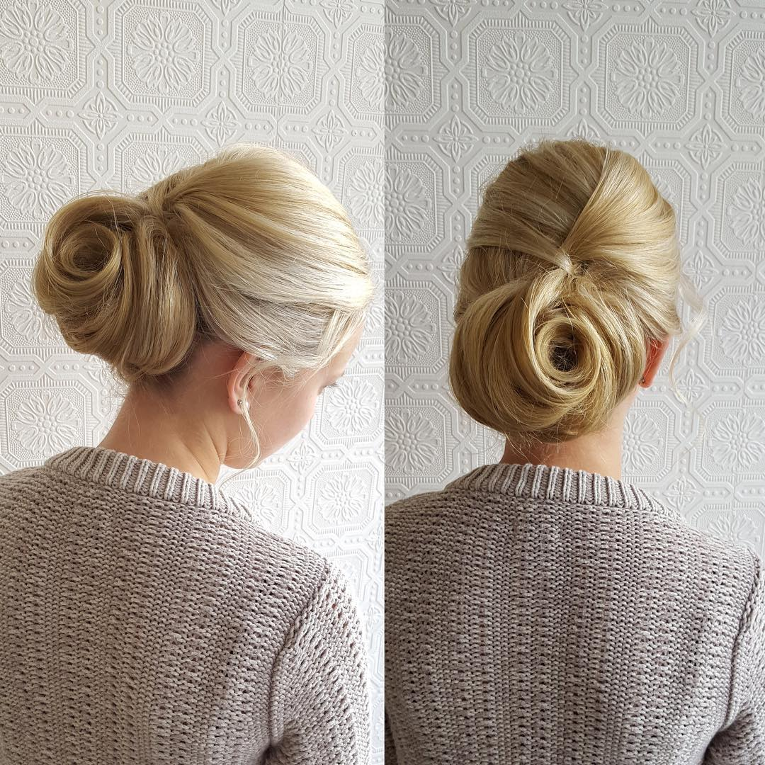 Romantic Chignon Updo Hairstyle