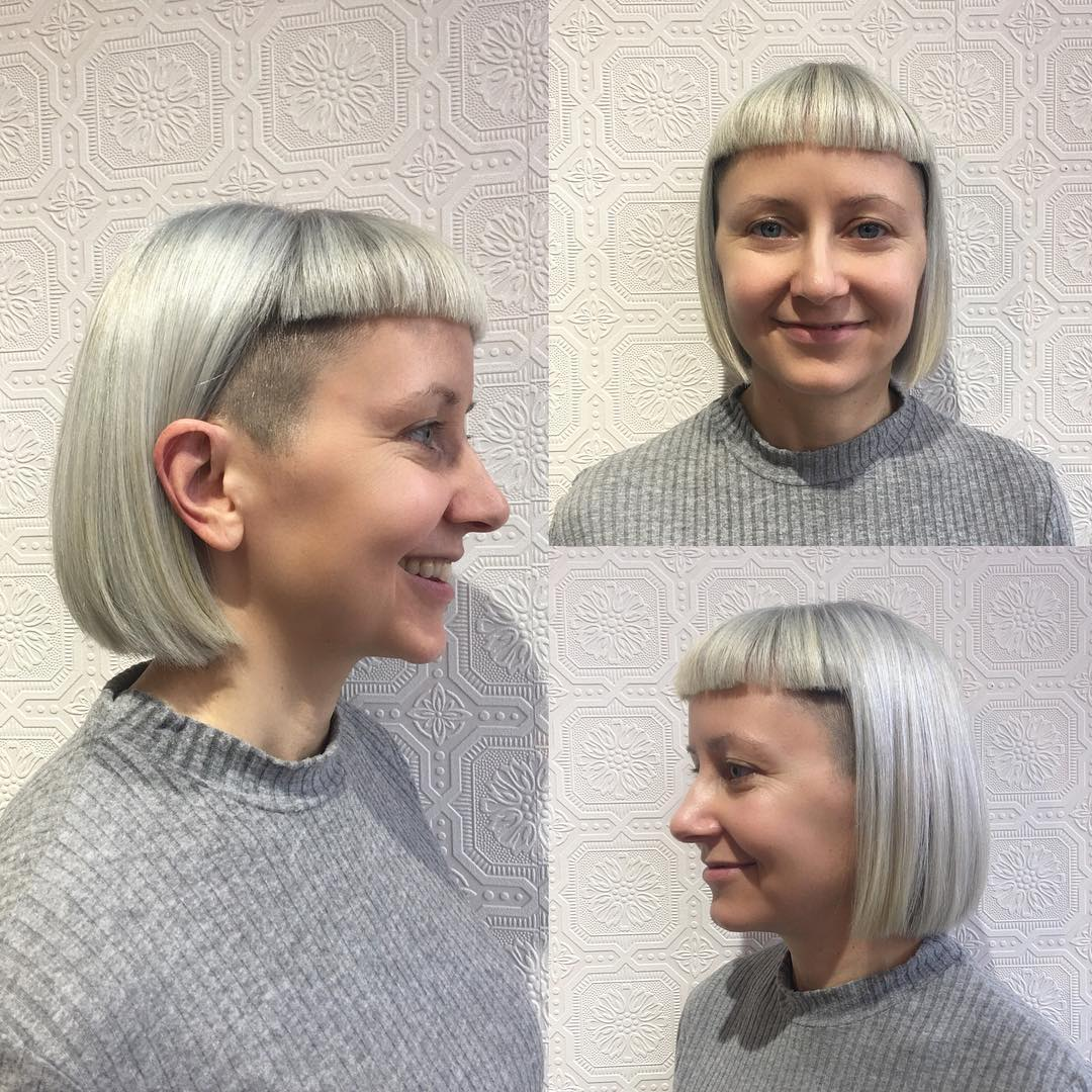 Silver-Undercut-Bob-with-Blunt-Baby-Bangs-Short-Hairstyle