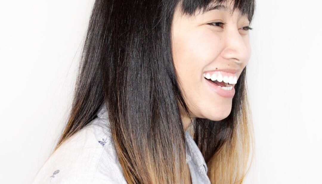 Sleek Soft Layered Cut with Fringe Bangs and Dark Brunette Ombre Long Hairstyle