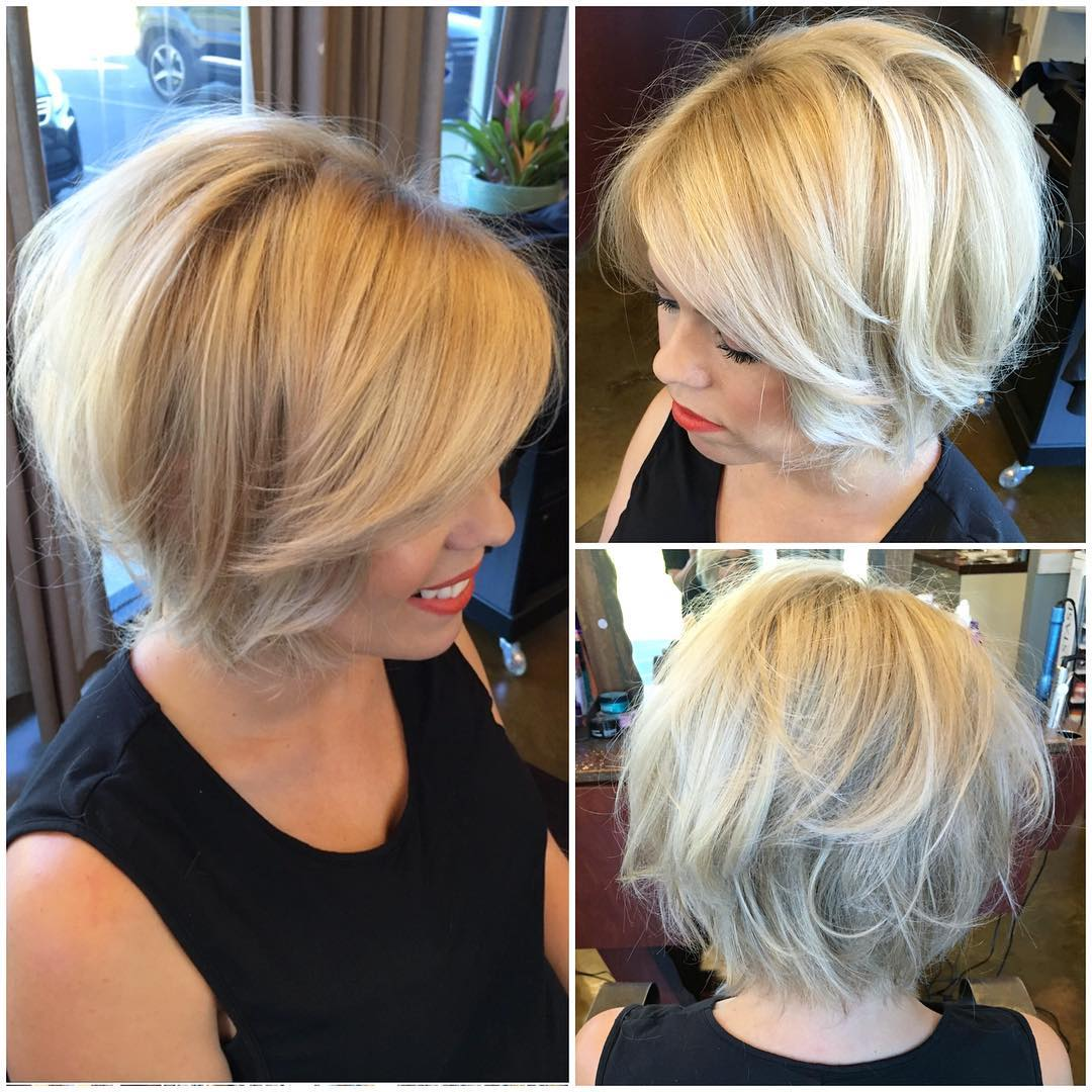 Textured Blonde Blowout Bob with Body and Volume - The Latest