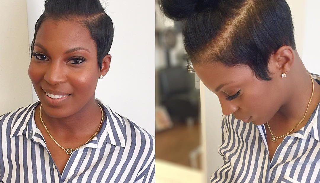 Trendy Half Up Top Knot Bun with Undercut Sides Updo Hairstyle