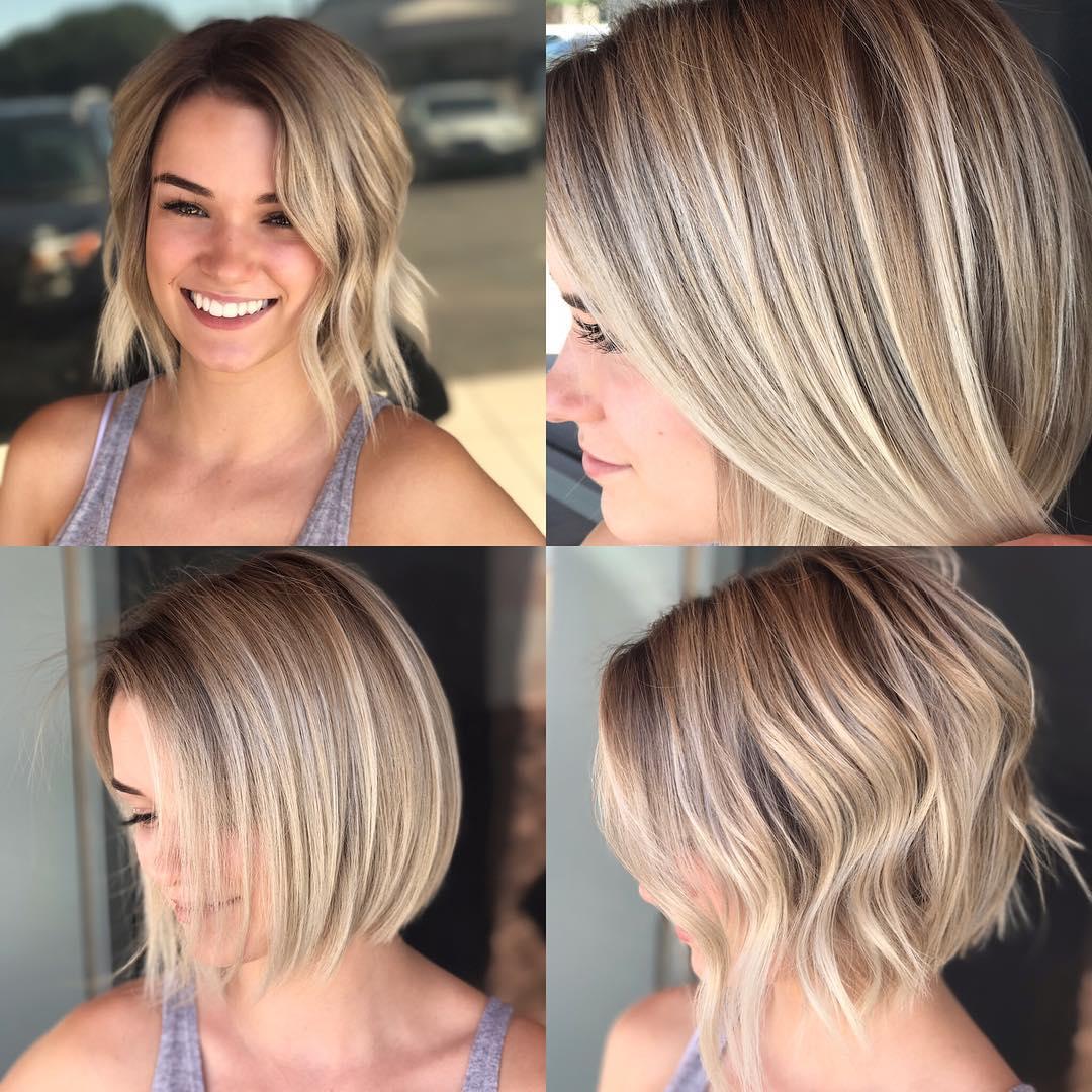 Versatile Blonde Highlighted Textured Bob Medium Length Hairstyle