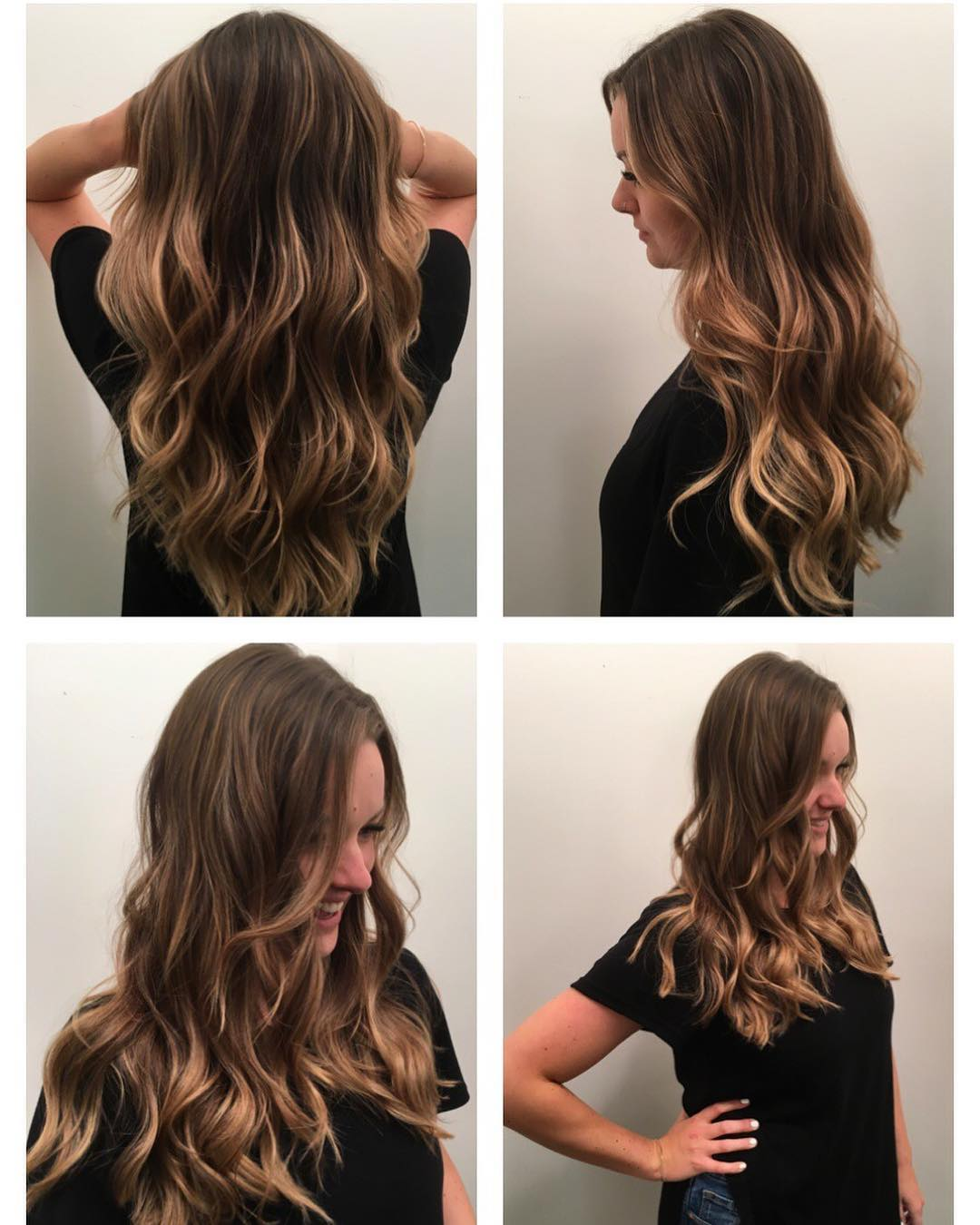 Wavy Waterfall Layers with Soft Brown Balayage Long Hairstyle