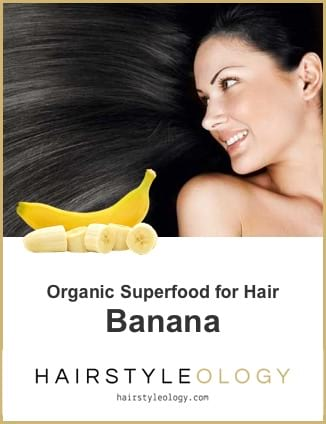 ORGANIC SUPERFOOD for HAIR: BANANAS