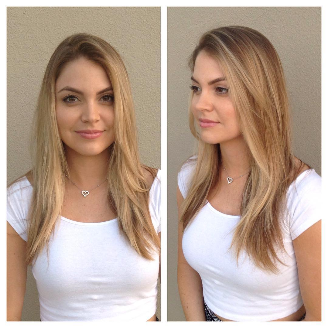 Long Blonde Hair with Layers