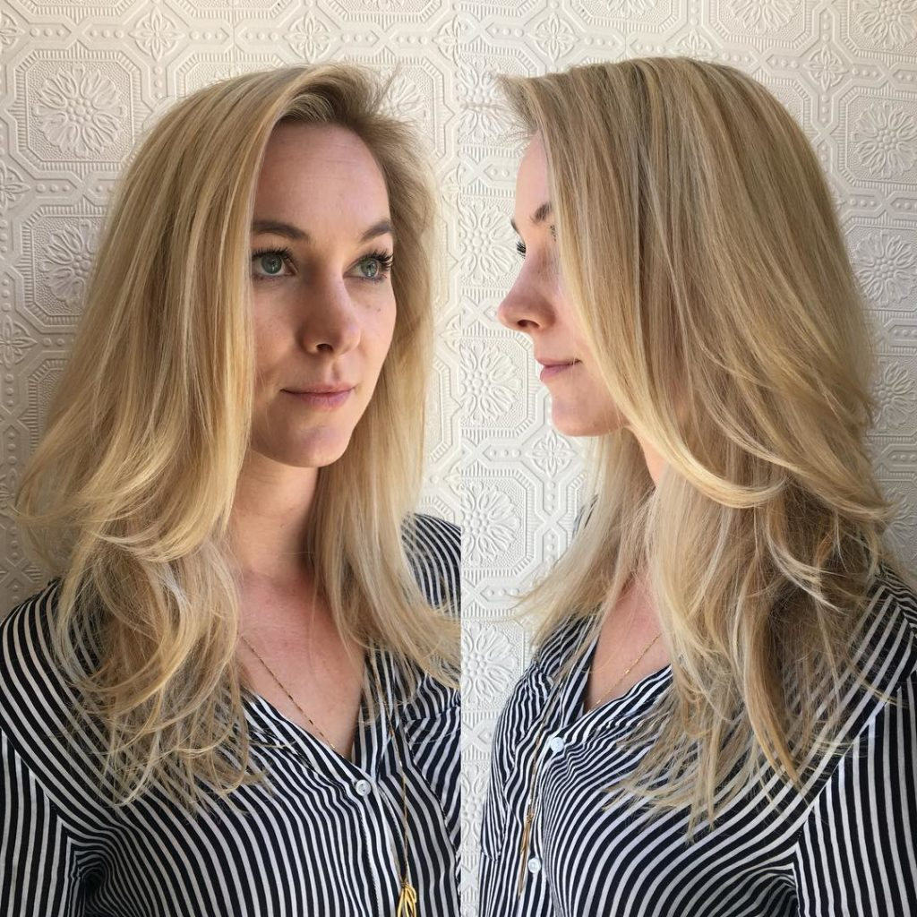 Blonde Layered Longhair with Wispy Ends