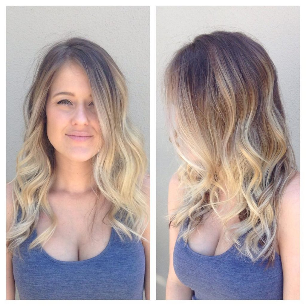 Wavy Layered Longhair with Blonde Ombre