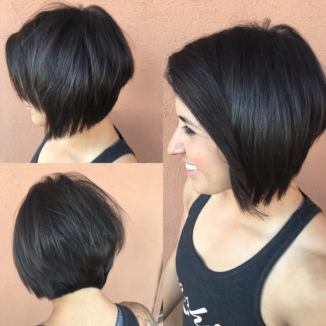 Concave Bob Face Framing Layers