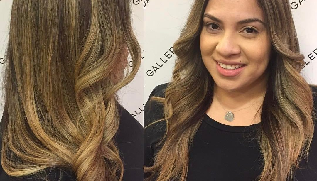 Longhair with Curled Front Layers on Light Brown Balayage Colored Hair