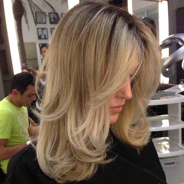 Long Highlighted Hair with Wispy Long Layers