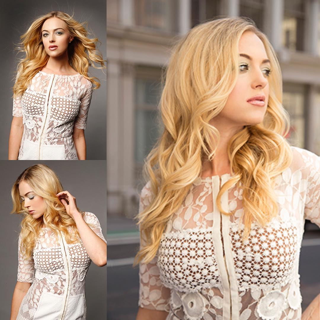 Curled Long Layered Cut on Long Blonde Hair