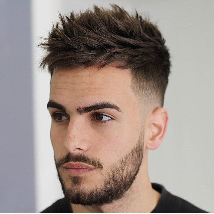 Spiky Textured Undercut with Low Fade