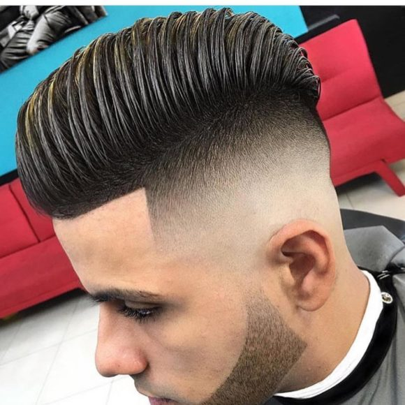 High Volume Comb Over with Skin Fade Undercut