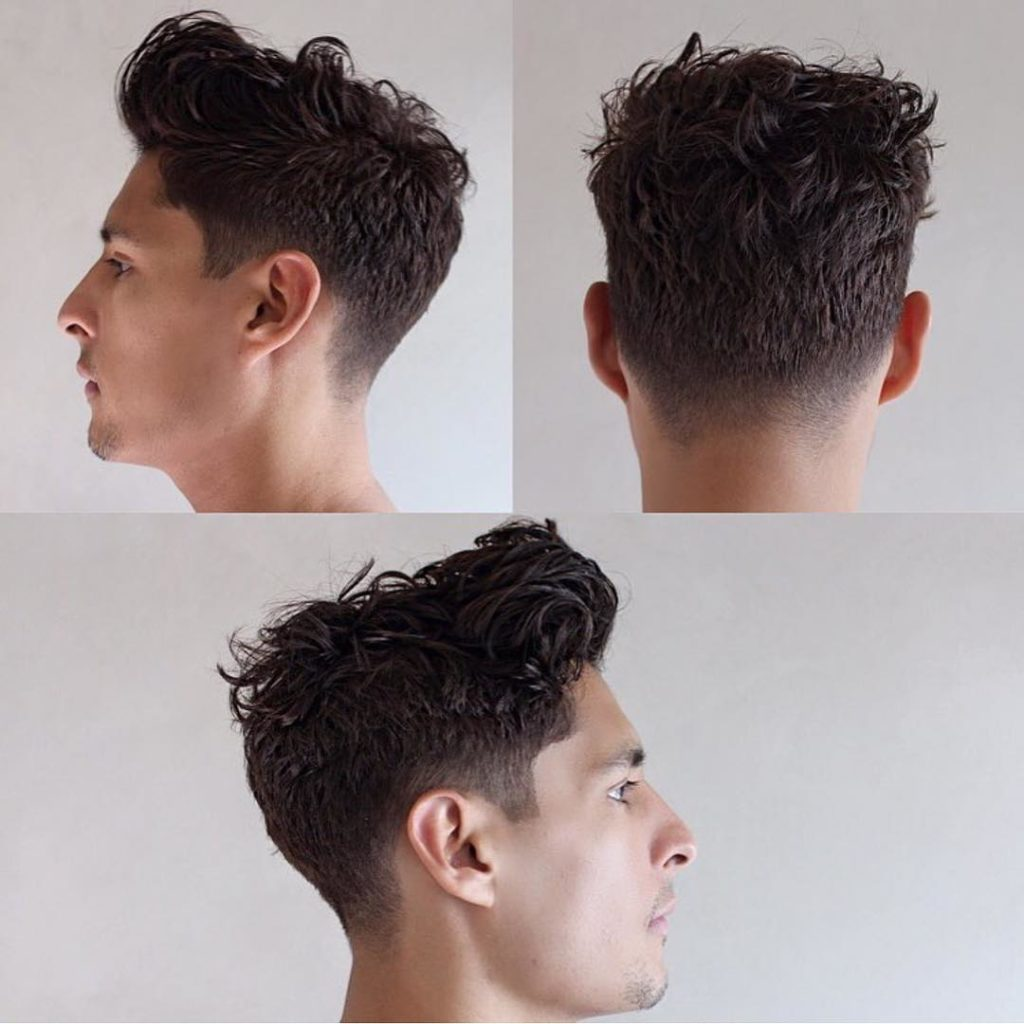 Tousled Wavy Pompadour Taper