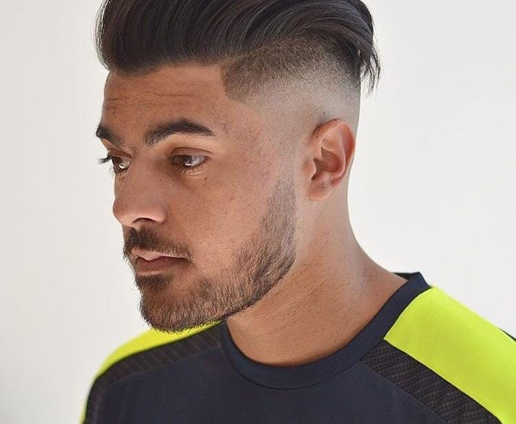 High Volume Textured and Backcomb Undercut with Skin Fade