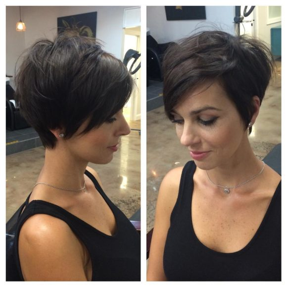 Chic Messy Brunette Pixie Bob