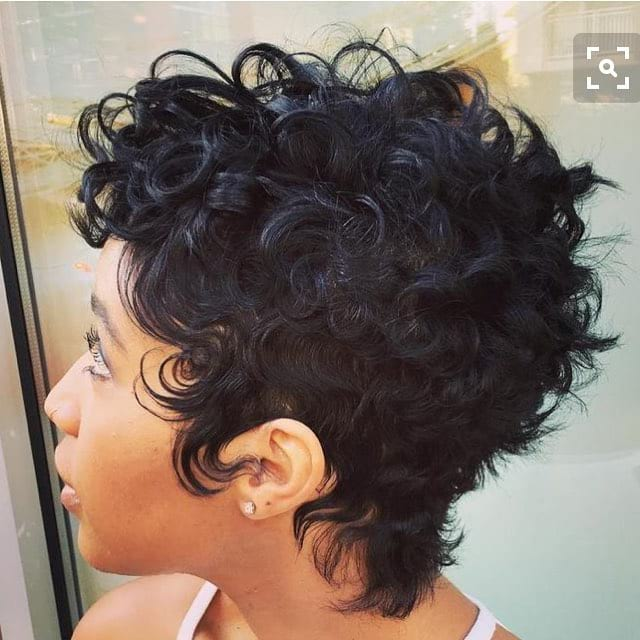 Messy Textured Curly-Q Pixie