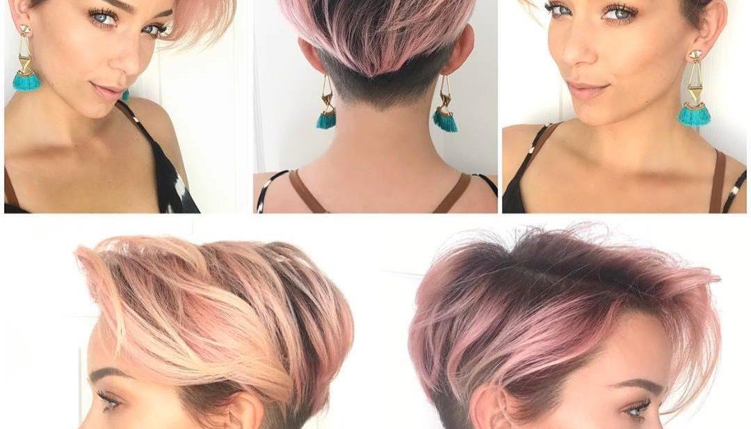 Pink Layered Undercut Pixie