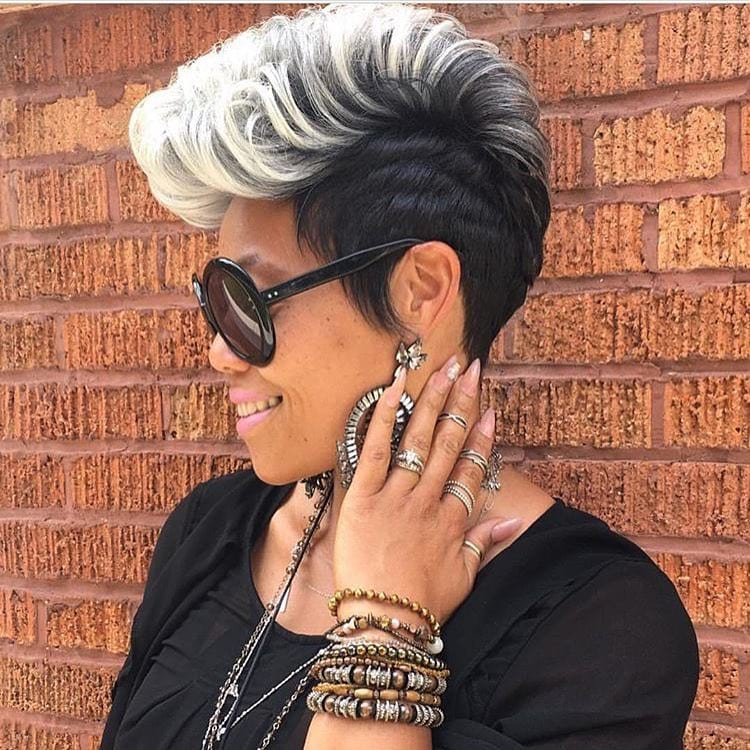 Icy Cool Faux Hawk Pixie