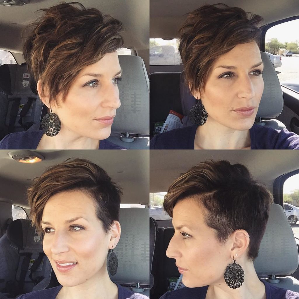Wavy Side-Combed Pixie