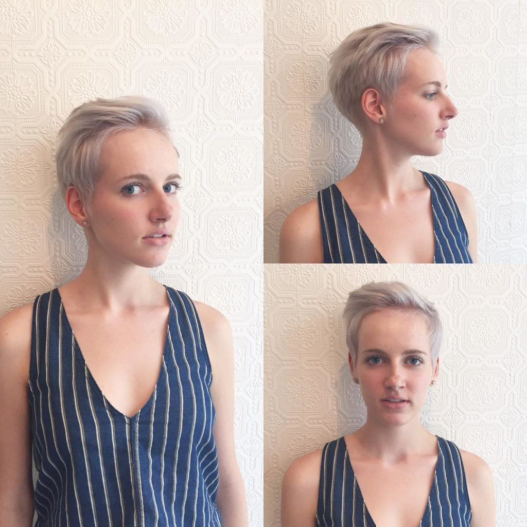 Soft Platinum Crop Top Pixie