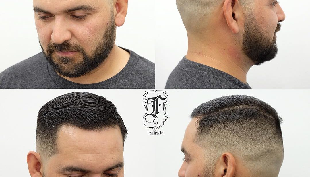 Short Side Part on Skin Fade