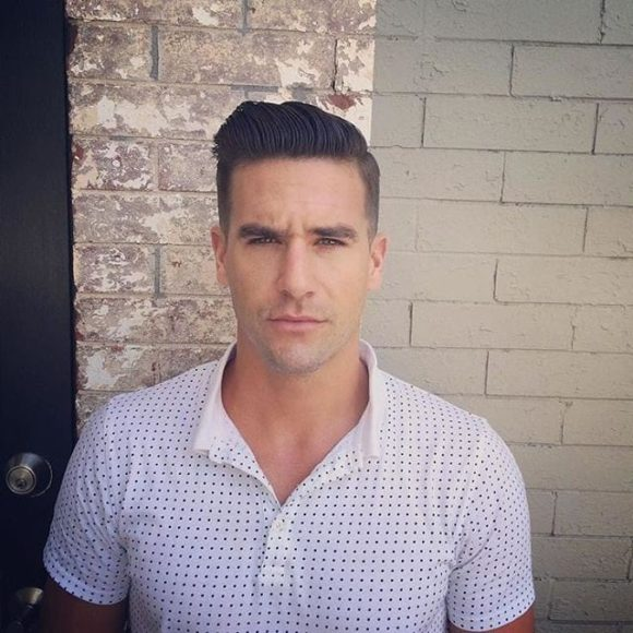 Regular Cut Combover with Pompadour and Tapered Sides
