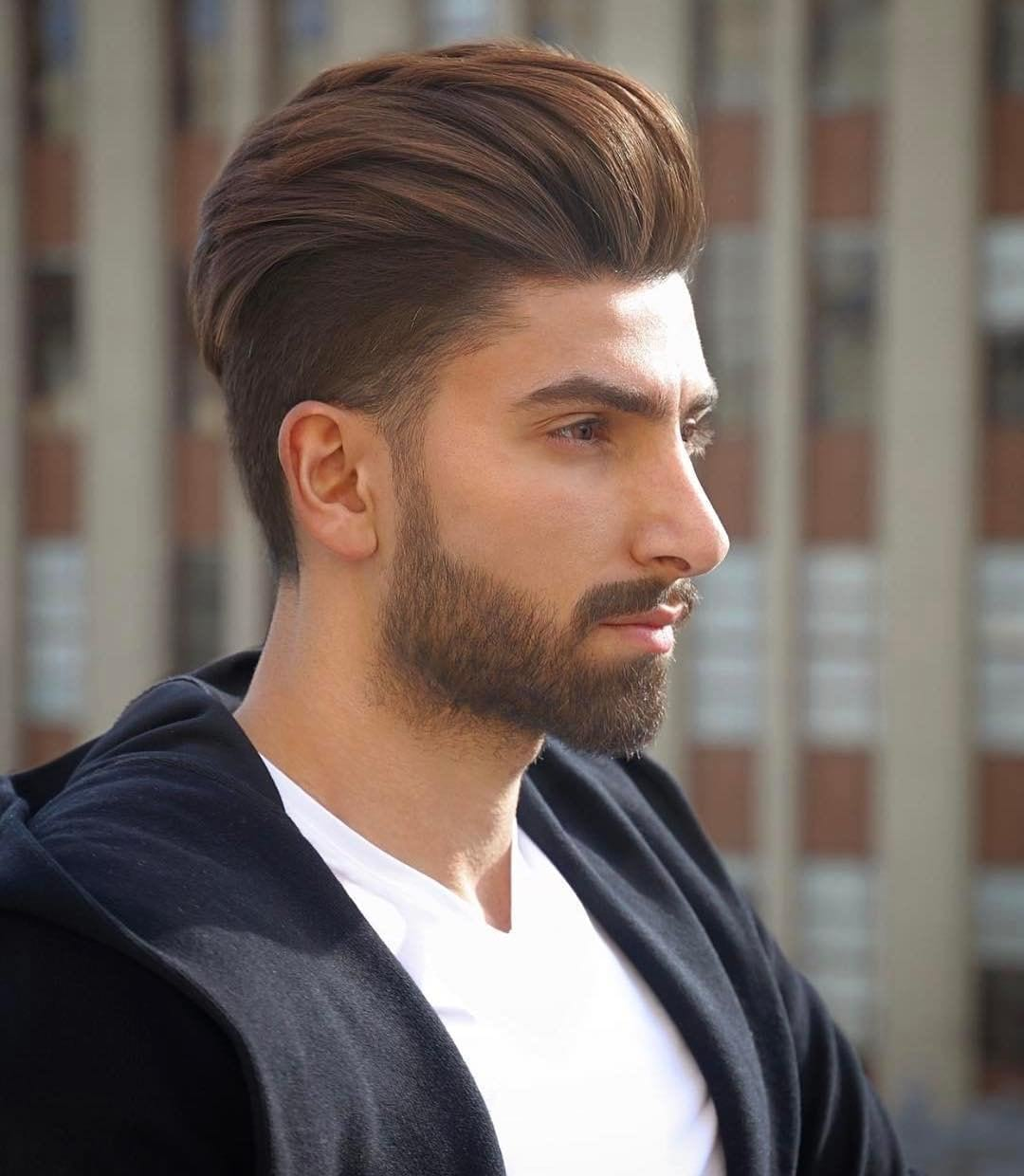 Undercut with a High Volume Backcombed Pompadour