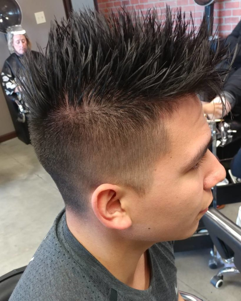 Spiky Undercut with Fade