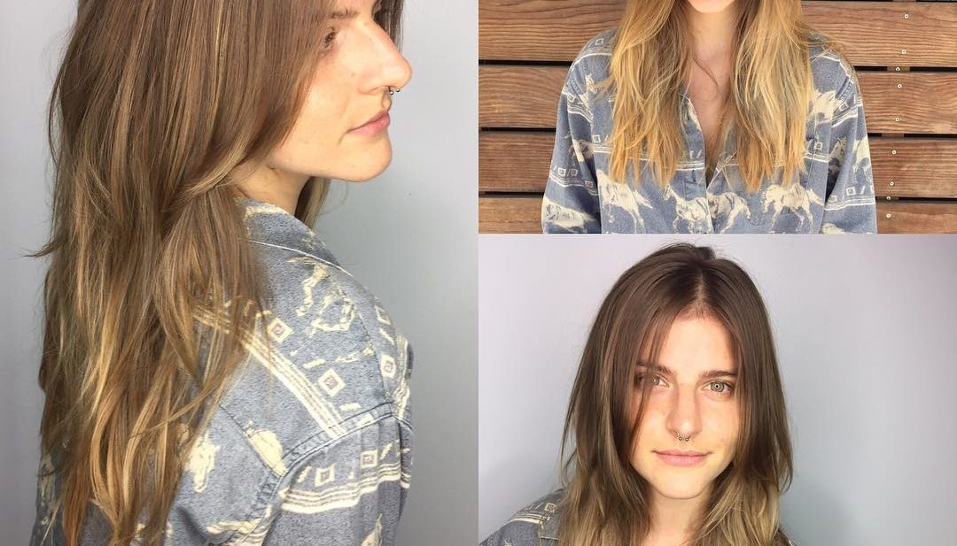 Long Sunkissed Light Brown Balayage Hair with Long Textured Layers